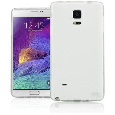 FONEX Pixel Cover Anti Urto 0,4 mm di Spessore in Morbido TPU con Retro Satinato per Galaxy Note 4 Colore Trasparente