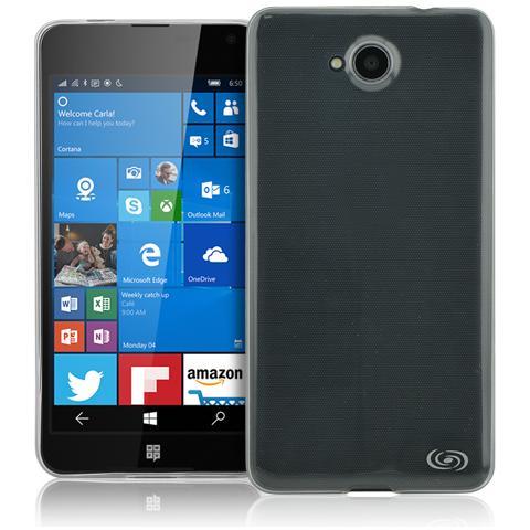 FONEX Inv Cover Ultra Sottile 0,2 mm in Morbido TPU per Microsoft 650 Lumia Colore Trasparente