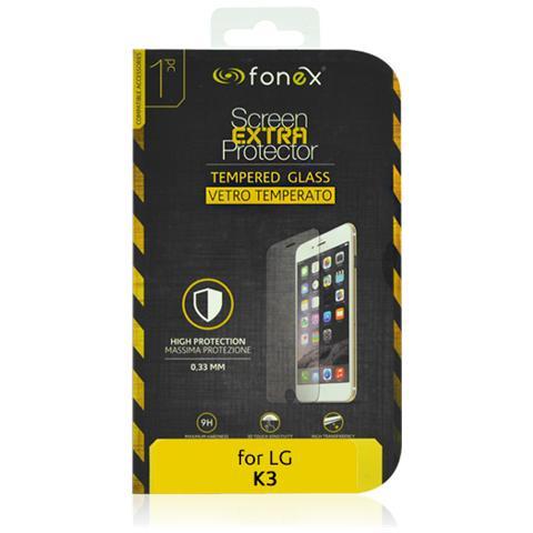 FONEX Protezione Schermo in Vetro Temperato per LG K3 (1Pz)