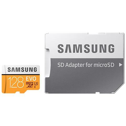 SAMSUNG MicroSD da 128GB UHS-I classe 10 Adattatore incluso
