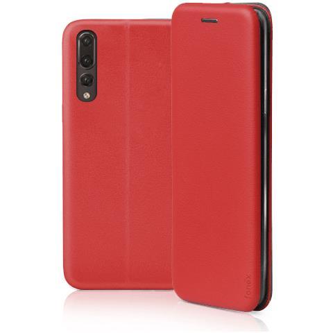 FONEX Profile Book Custodia a Libro per Huawei P20 Pro Colore Rosso