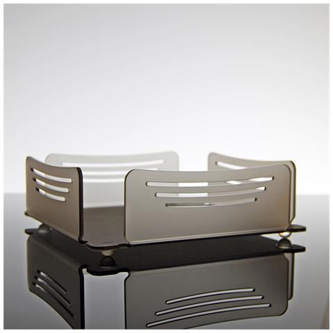 Portatovaglioli Porta Tovaglioli Da Tavolo Design Moderno In Plexiglass Tansy - Colore Grigio Satinato