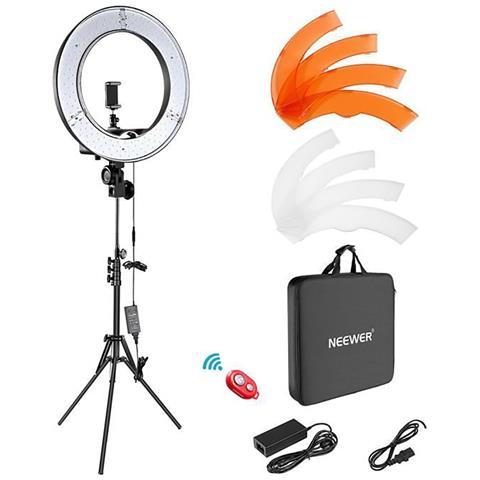 Kit Di Illuminazione Per Foto Video Per Fotocamera 18 Pollici Per Esterni 55w 5500k Anello...