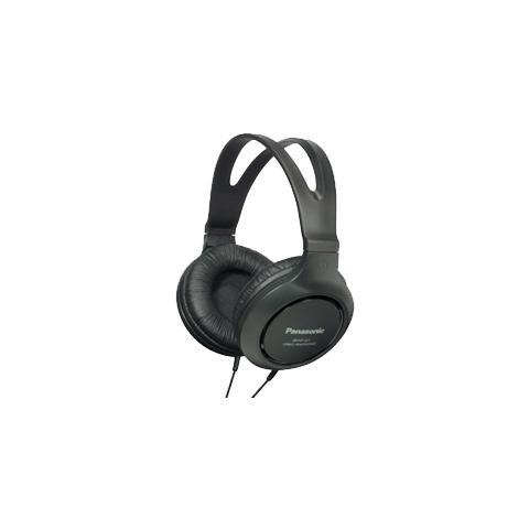 PANASONIC Cuffia Panasonic RP-HT161E-K Cavo Stereo - Over-the-head - Ear-cup - Nero - 24 Ohm - 10 Hz - 27 kHz - 2 m Cavo - Mini-phone