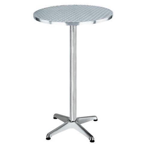 Tavolo Rotondo in Alluminio e Acciaio
