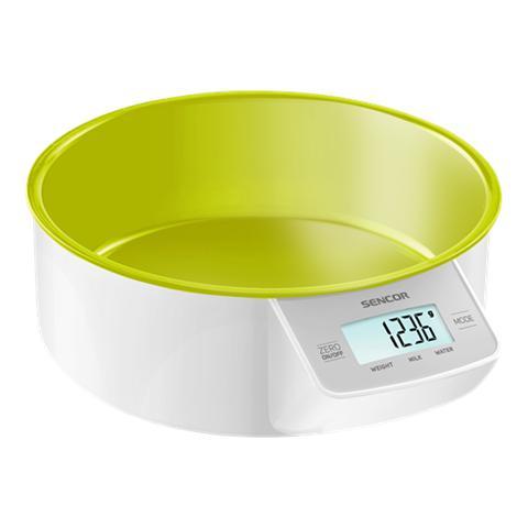Bilancia Digitale da Cucina con Ciotola Rimovibile Portata 5 Kg Colore Verde