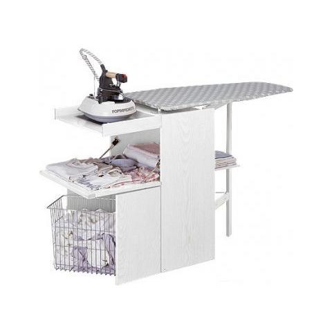 FOPPAPEDRETTI Mobile con Asse da Stiro Incorporata - Modello LoStiro Bianco
