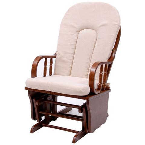 HOMEGARDEN Poltrona Relax dondolo oscillante in legno massello per interno di design