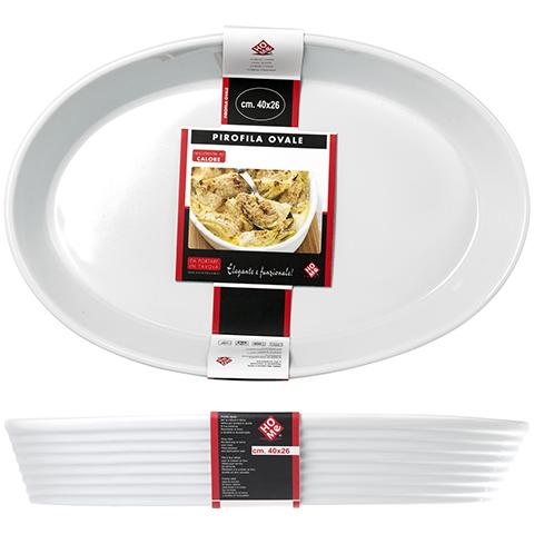 HOME Pirofila Ceramica Ovale 40x26 Strumenti Da Cucina