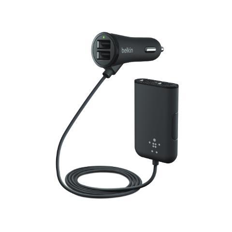 BELKIN Road Rockstar 4-fold USB 7,2 A nero F8M935bt06-BLK