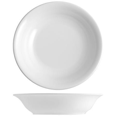 H&H Set 6 Piatto Coupe Iris Bianco Fondo Cm20 Tableware