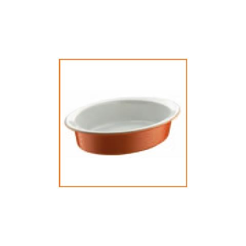 Rostiera Ovale Arancione Stoneware 36 X 25 Cm