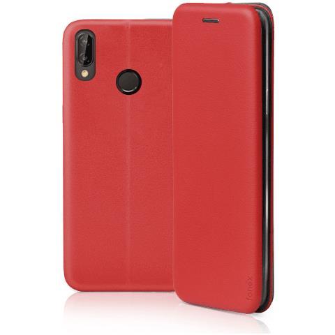 FONEX Profile Book Custodia a Libro per Huawei P20 Lite Colore Rosso