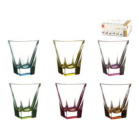 Confezione 6 Bicchieri In Vetro Fusion Color Vino 20