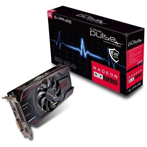 SAPPHIRE Radeon RX 560 2 GB GDDR5 Pci-E DVI-D / HDMI / Display Port Pulse OC (UEFI)
