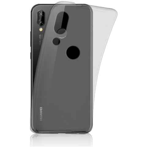 FONEX Cover Inv Soft Case Ultra Sottile 0,2 Mm In Morbido Tpu Per Huawei P20 Lite Colore Nero Trasparente