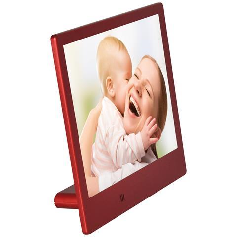 Cornice Digitale Slim M-PFS8R Display 8'' Risoluzione 1280 x 768 Colore Rosso