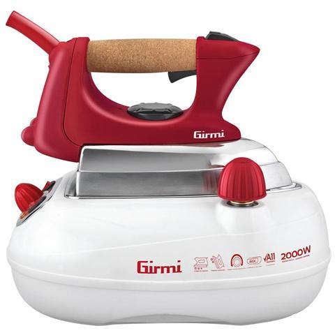 GIRMI Stirella SS01 - Ferro da Stiro con Caldaia Potenza 2000 Watt Colore Bianco / Rosso