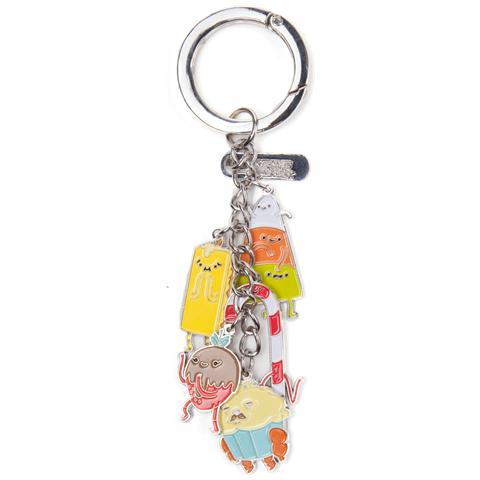 BIOWORLD Adventure Time - Candy People With Charms Multicolor (Portachiavi In Metallo)