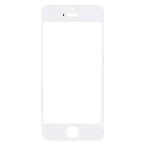 BOMA Schermo Vetro Frontale Con Colla Oca Adesiva Ricambio Apple Iphone 5 5s Se Bianco