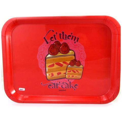 Smiley grande vassoio '' rosso (far loro mangiare la torta) - [ l8986]