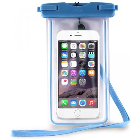 PURO Cust Impermeabile Smartphones Up To 5.1'' con chiusura rigida e laccetto IPX8 - BLU