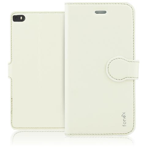 FONEX Identity Book Custodia a Libro per Huawei P8 Colore Bianco
