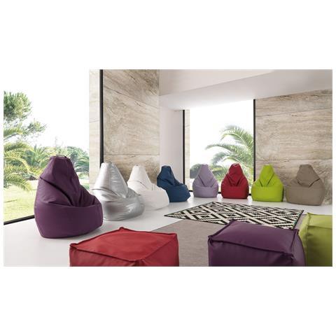 La Seggiola Pouf Molly-ecopelle Verde Sedute Comode, Confortevoli Di Design