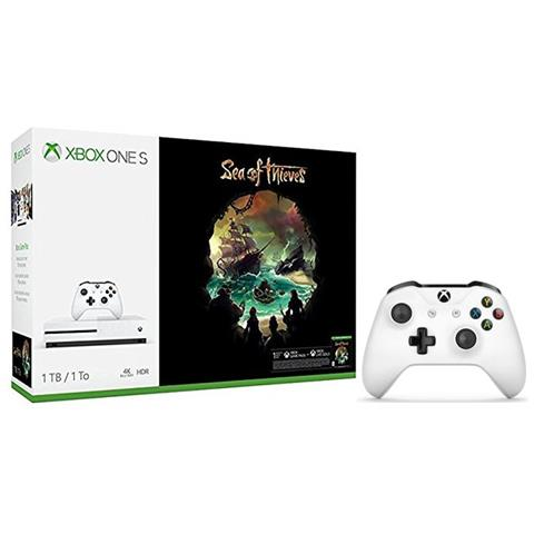 Image of Console Xbox One S 1 Tb + Gioco Sea of Thieves + Secondo Controller Xbox One Bianco Limited Bundle
