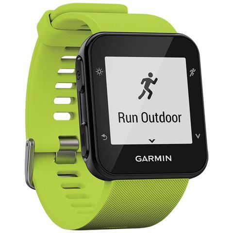 GARMIN Smartwatch Forerunner 35 GPS Impermeabile 5 ATM con Cardiofrequenzimetro Colore Nero / Verde