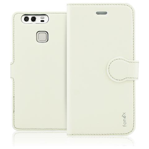 FONEX Identity Book Custodia a Libro per Huawei P9 Colore Bianco