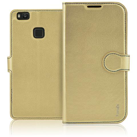 FONEX Identity Book Custodia a Libro per Huawei P9 Lite Colore Oro