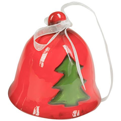 Campanella Di Natale Soggetti Assortiti - Campanella Bianca Stella