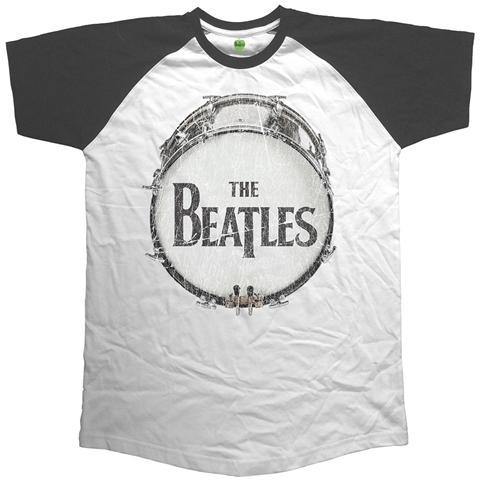 ROCK OFF Beatles (The) - Raglan Baseball Original Vintage Drum (T-Shirt Unisex Tg. 2XL)