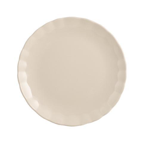 "H&H Set 6 Piatti Frutta Ceramica ""camelia"" Avorio Tableware"