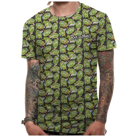 CID Rick And Morty - Repeat Pattern Sublimated (T-Shirt Unisex Tg. Xl)