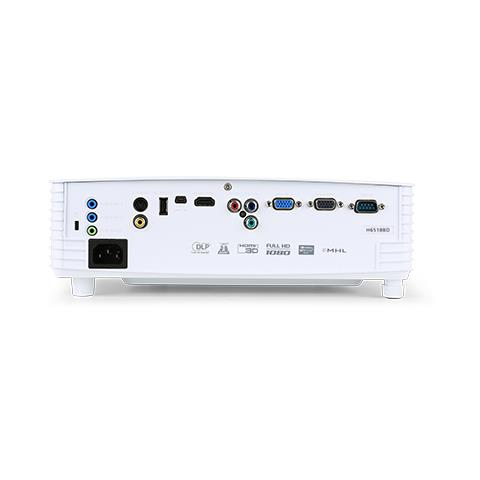 ACER Proiettore H6518BD DLP3D Full HD 3500 ANSI Lumen Rapporto di contrasto 20.000: 1 HDMI / VGA / USB