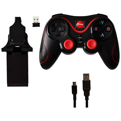 NetworkShop Controller Bluetooth Wireless Nero Per Android - Iphone - Pc - Ps3