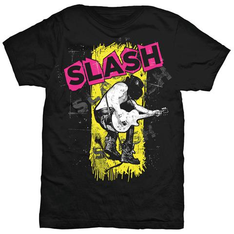 ROCK OFF Slash - Trashed Black (T-Shirt Unisex Tg. S)