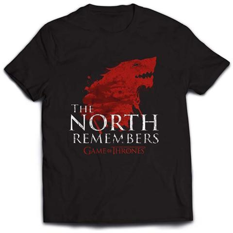 PHM T-Shirt Uomo Game Of Thrones - The North Remembers Tg. S Black