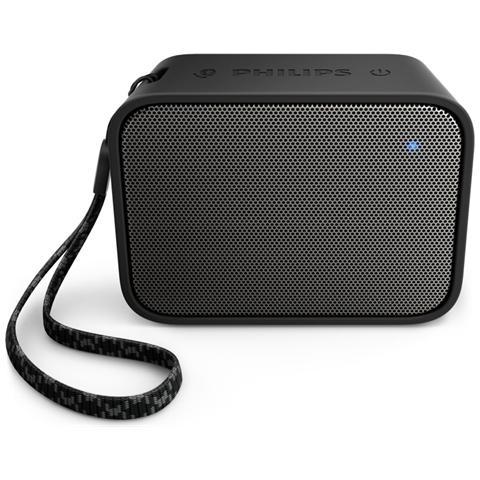 PHILIPS Speaker Audio Portatile BT110 Impermeabile Bluetooth USB colore Nero