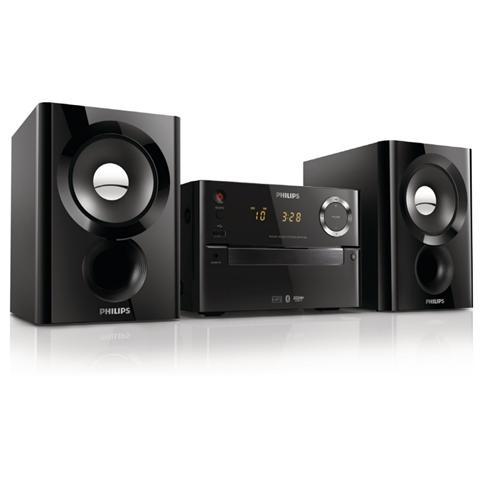 PHILIPS Sistema Micro Hi-Fi BTM1180 Lettore CD Supporto MP3 Potenza Totale 20Watt Wireless Bluetooth una porta USB