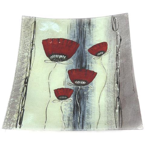 Les Trésors De Lily decorazione di interni piatto piatto 'coquelicots' 29 cm (dipinto a mano) - [ k1208]