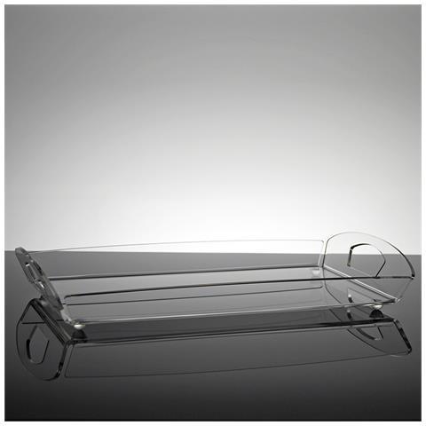 Vassoio Rettangolare Da Portata Design Moderno In Plexiglass Trasparente Acanto