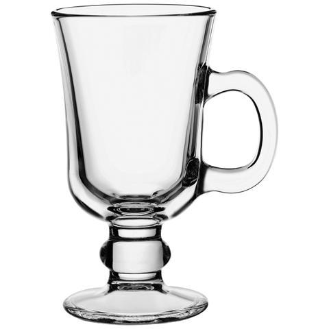 Set 12 Calice Vetro Con Manici Riva Irishcoff Bicchieri Tavola