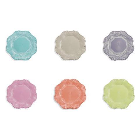 Hippy Set 6 Sottopiatti, Plastica, Multicolore, 34.5x34.5x2 Cm