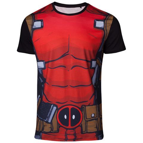 BIOWORLD Deadpool - Sublimation Deadpool'S Suit Black (T-Shirt Unisex Tg. L)