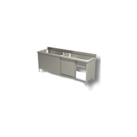 Lavello 200x70x85 Acciaio Inox 430 Armadiato Cucina Ristorante Pizzeria Rs4970