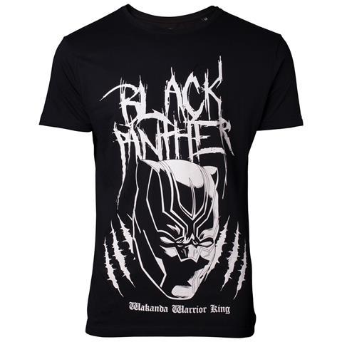 BIOWORLD Black Panther - Metal Tee Inspired Black (T-Shirts Unisex Tg. XL)