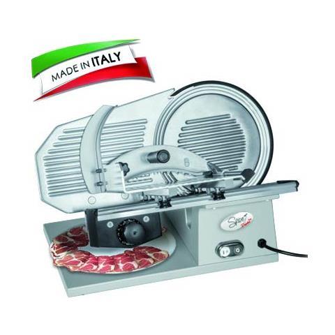 - Paprika Gourmet Pro 22 Made In Italy - Affettatrice Professionale In Pressofusione Di Alluminio Lama 22 Cm Con Sistema Antiaderente A Scanalature 160 W